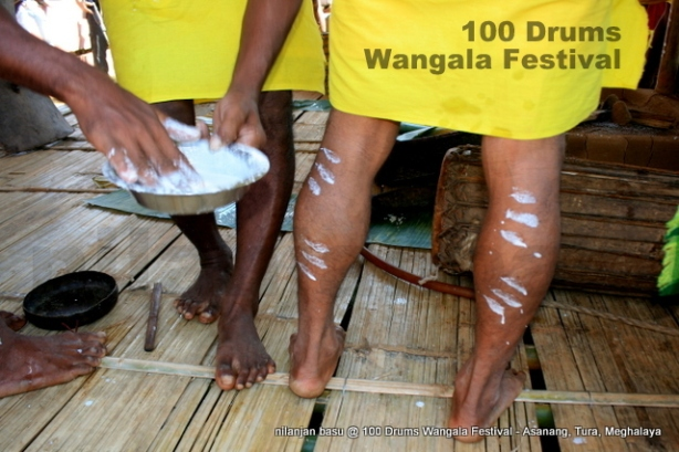 A ritual is happenning at Wangala.