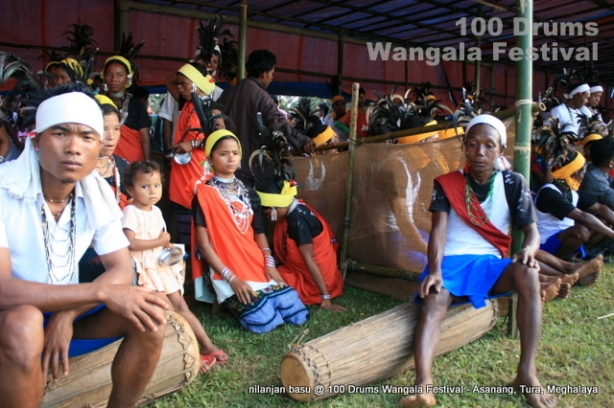 10 Membered Team from 10 different villages compete in this Wangala Festival