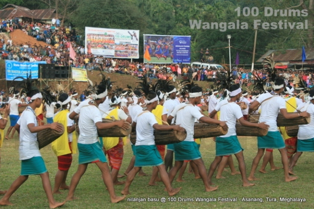 Dancers from nearby villages celebrating Wangala Festival